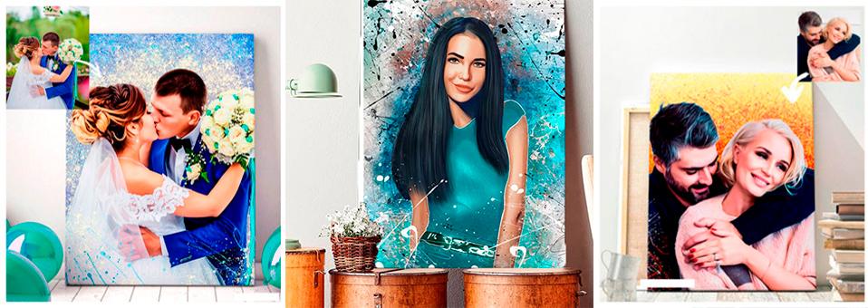 Дрим арт портреты на холсте